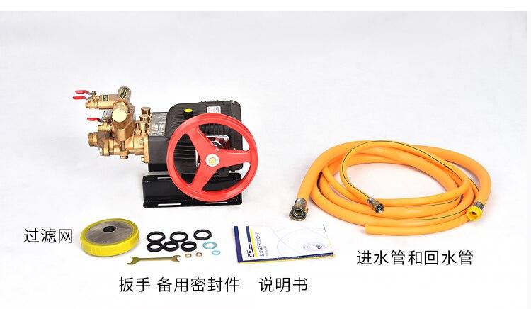 HTP насос, опрыскиватель высокого давления, FST 30HA, поршень из нержавеющей стали, садовый опрыскиватель, сельскохозяйственный распылитель, насос, чугун, - 4