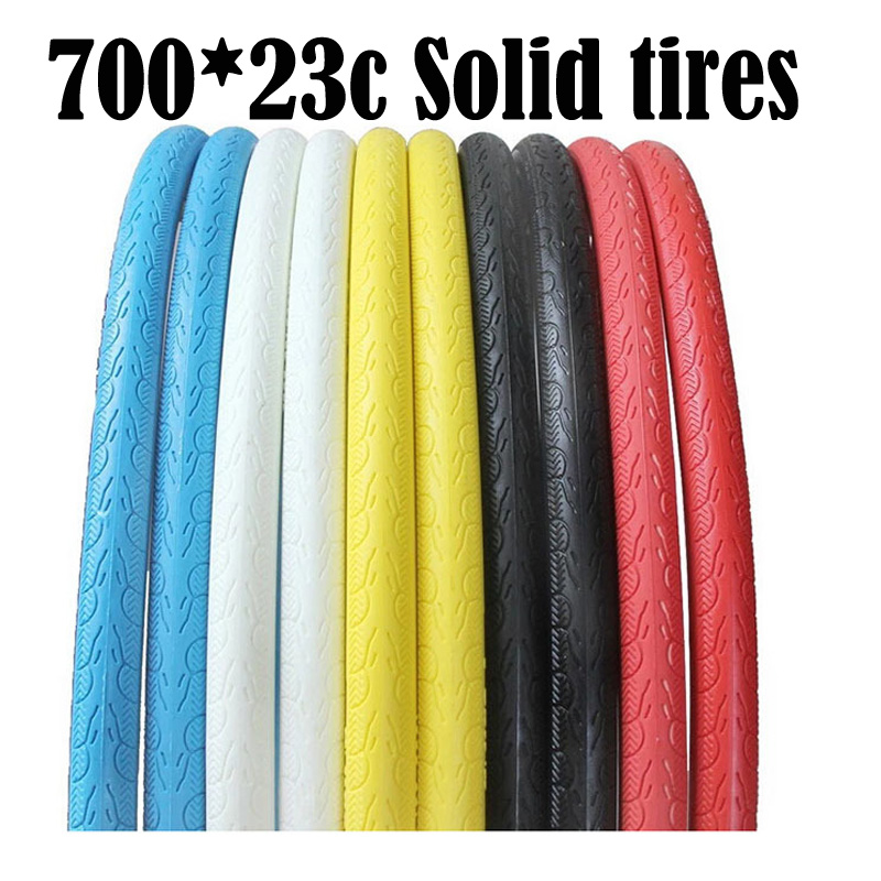 Never Flat Bicycle Tires 700C x <font><b>23C</b></font> Fixed Gear Solid Tires Inflation Free Solid Tyre for Road Bike 11 Colors Bicycle Tires 1pcs image