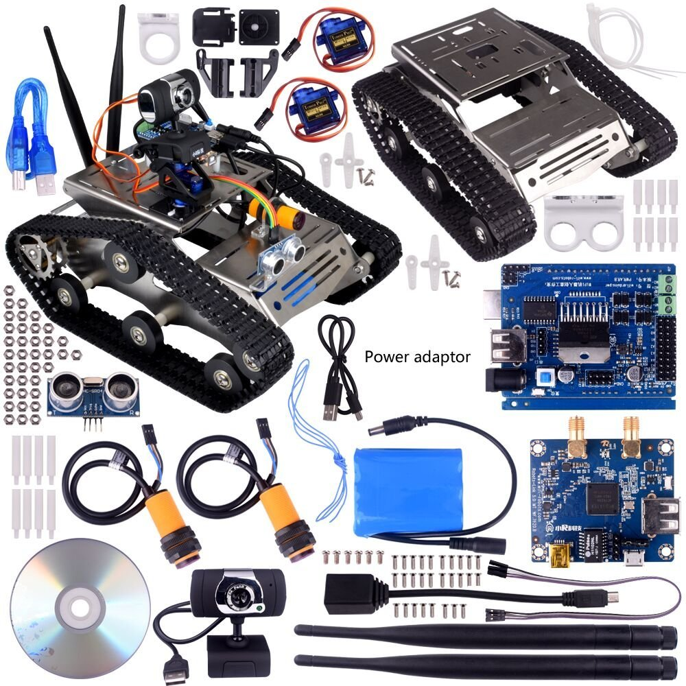 Wireless wifi robot car kit for arduino utility vehicle