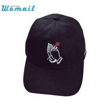 Harajuku стиль 1 шт. вышивка бейсболка мальчики девочки snapback хип-хоп плоским шляпа холдинг розы 3 цветов