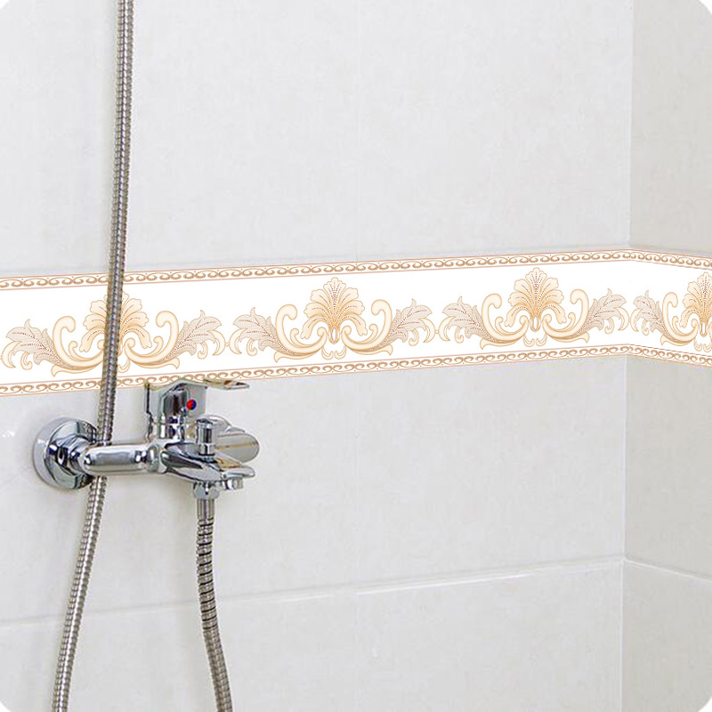Diy Self Adhesive Wallpaper Border Waterproof 5m Bathroom 3d