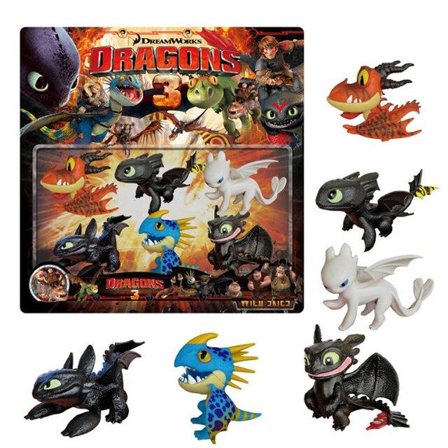 10 3 pçs/set edição limitada Como treinar o seu dragão Desdentado fúria da noite Luz fúria brinquedo figura de ação de alta qualidade para as crianças