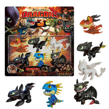 10pcs/set limited edition How to train your dragon 3 Toothless night fury Light fury high quality action figure toy for children(China)