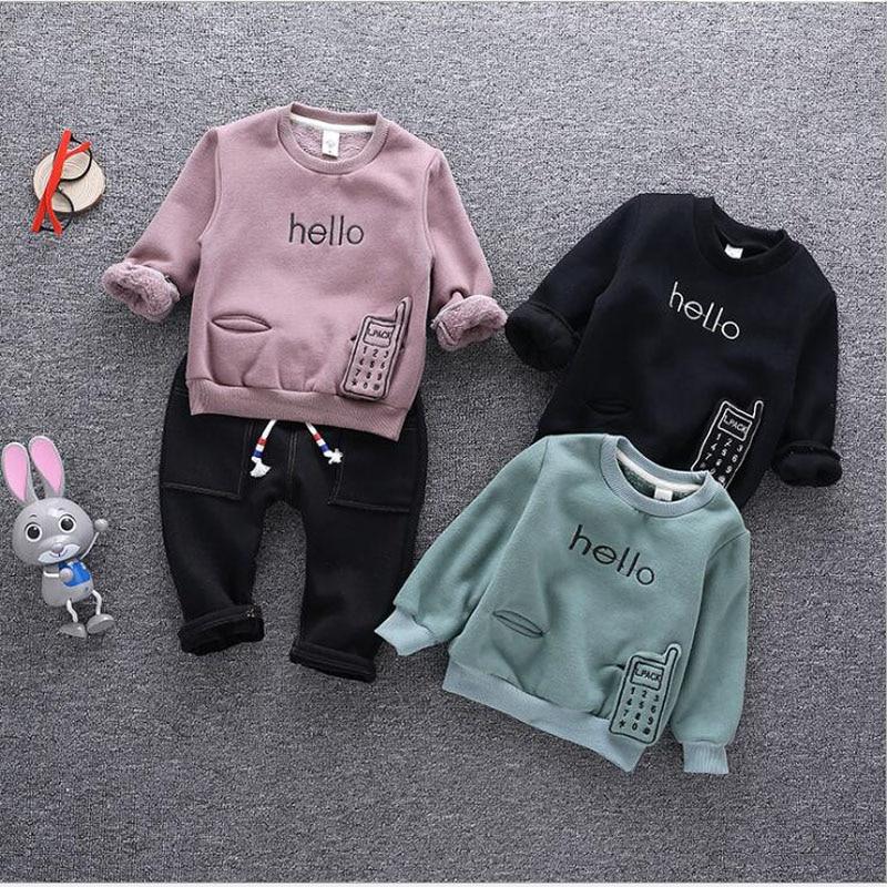 купить Christmas Costumes for Newborns Kids Autumn Cartoon Pajama Pullover Suits Children Bottoms Shirt Sets Infant long Pants Suits недорого
