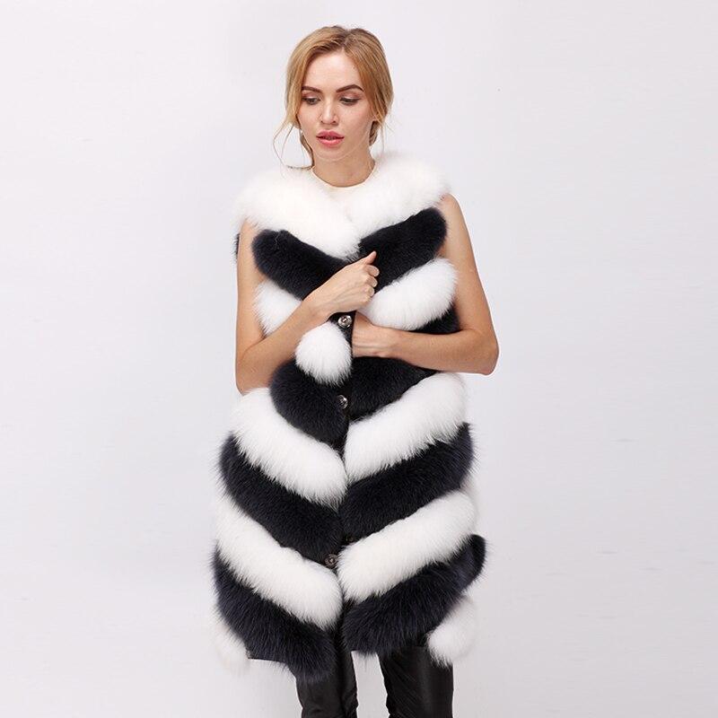 CNEGOVIK 2017 winter new real fur vest fox fur vest natural arctic fox vest White fox