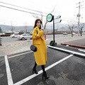 2016 Primavera Otoño Invierno Las Mujeres Imitó Abrigo de Cachemira de Lana de Abrigo de Gran Tamaño Sólida Espesar Loose Escudo Plus Larga FreeSize