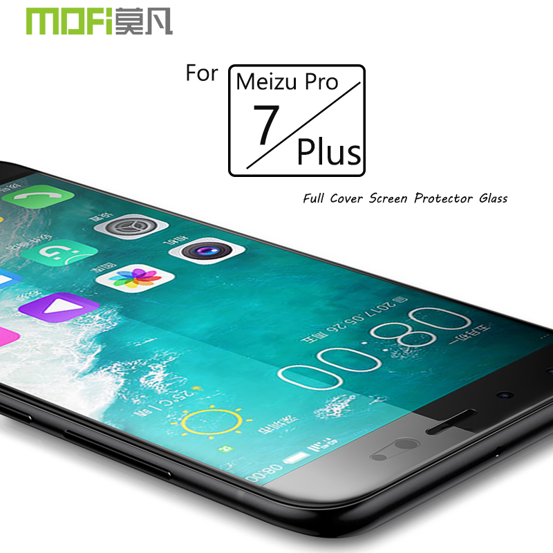 Meizu Pro 7 Plus Glass Meizu Pro 7 Tempered Film Glass MOFI Full Cover Protector Film Glass For Meizu Pro7 Plus Full Screen Film