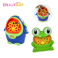 Enjoybay Cute Penguin Frog Automatic Bubble Machine Portable Bubble Blower Toys Cartoon Outdoor Bubbles Blowing Blower Maker Toy