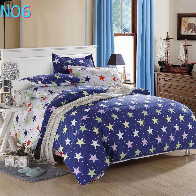 Красивые Облака Стиль хлопковый комплект постельного белья, постельное белье набор 3/постельного белья из 4 предметов, комплект с надписью «розовый», цвет бел - Цвет: Синий