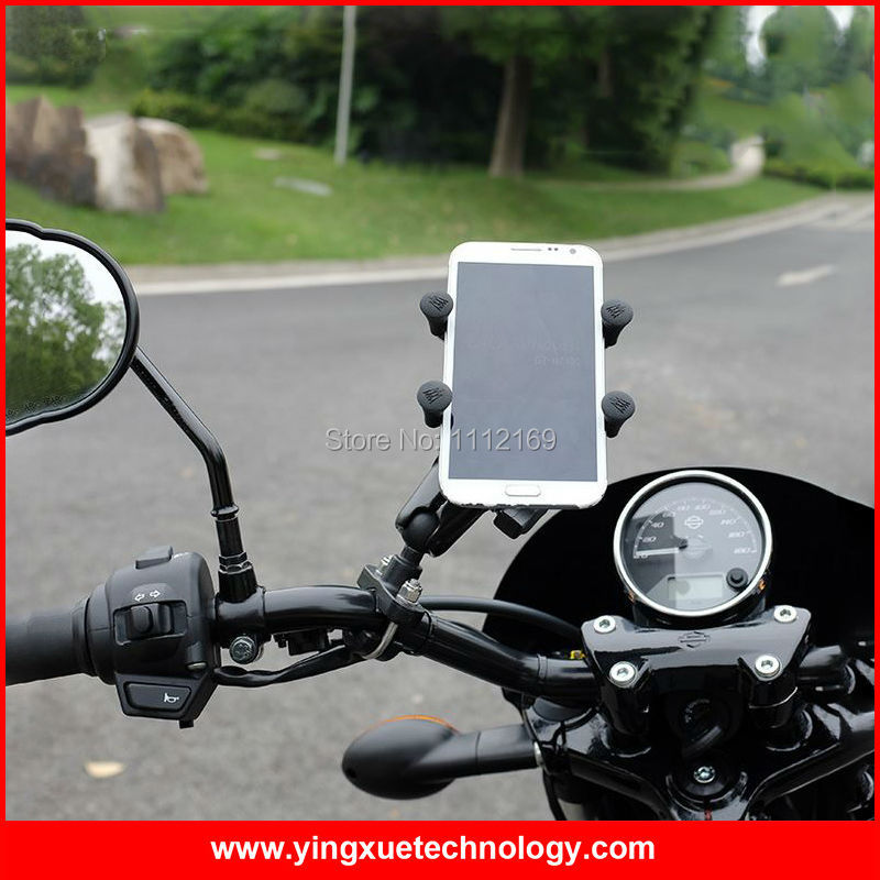 Мотоцикл Скутер Руль управления для мотоциклов держатель для 3.5-5.5 дюймов Экран смартфонов