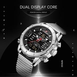 Image 5 - NAVIFORCE Men Watch Top Brand Luxury Sport Watches LED Military Waterproof Steelstrap Wristwatch For Gift relogio masculino 9153