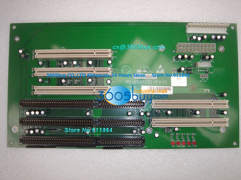 High quality IPC-6106P3(B) REV A2 100% tested perfect quality 6 Slot Motherboard ATX Socket wilbur smith monsoon