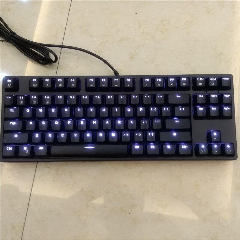 RK tenkeyless TKL черная 87 клавиш механическая клавиатура cherry mx коричневый синий переключатели игровая клавиатура светодио дный Белый светодиодны...
