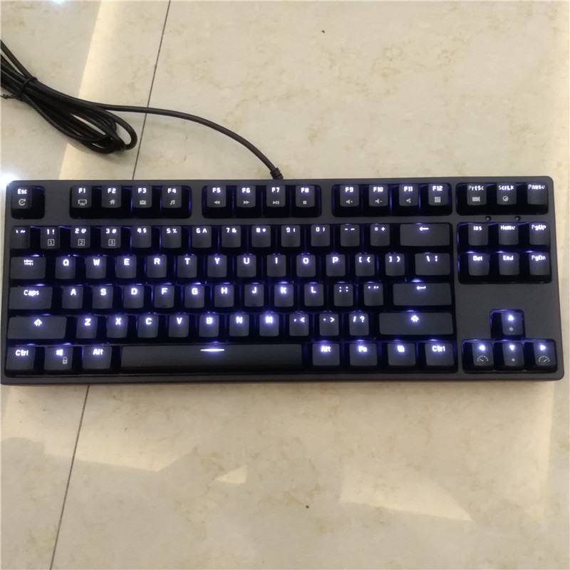 цена на RK tenkeyless TKL black 87 keys mechanical keyboard cherry mx brown blue switches gaming keyboard white LED backlit NKRO