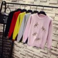 Women winter sweater and pulloves casual cute animal Embroidery ladies warm tops One Size Women tops long sleeve