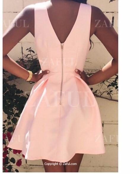 HTB1n5QuQFXXXXbBXFXXq6xXFXXXs - FREE SHIPPING Women Sexy Deep V-neck Backless Dress Casual Slim Tunic Sleeveless Mini Pink Party Dresses Plus Size JKP277
