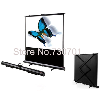 Hot sale easy carry projector screen pull down type for home hotel convenient usage 120 inch 16:9