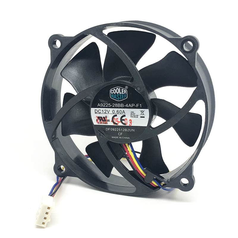 Original Cooler Master 9025 90MM 90x90x25mm Circular Fan 72mm Hole Pitch For 775 CPU Cooling Fan 12V  0.6A  With PWM 4pin