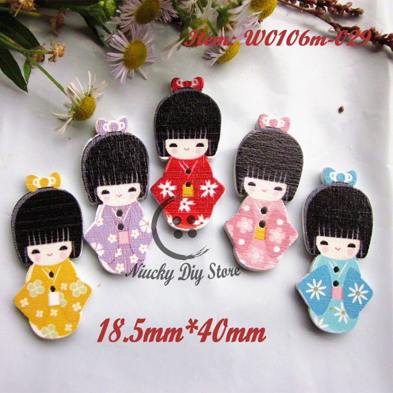 Japanese Doll Buttons