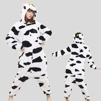 HOT TOP Wholesale Dinosaur Unicorn Cow Unisex Flannel Hoodie Pajamas Costume Cosplay Animal Onesies Sleepwear For
