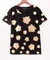 tiger brand  2016 T-shirts for women hipster clothes tee shirt femme tshirts punk rave top women t shirt tops poleras