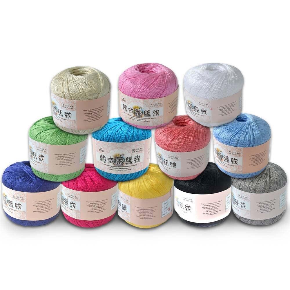 Varmhus 5pcs Crochet Cotton Yarn Thin Yarn Lace Cotton Crochet Yarns Hand-knitting Yarn Machine Knitting Crochet Threads 0.8mm