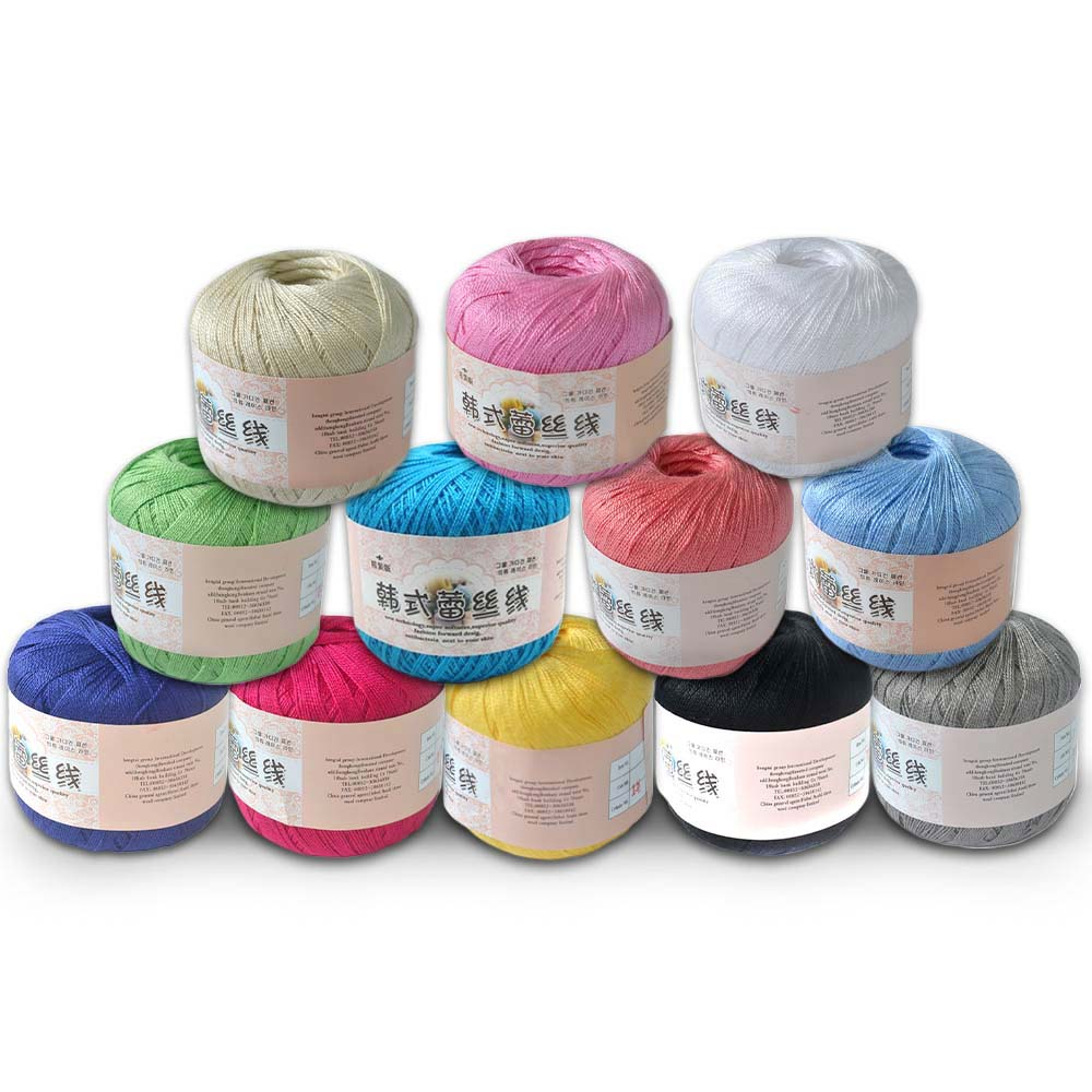Varmhus 5pcs Crochet Cotton Yarn Thin Yarn Lace Cotton Crochet Yarns
