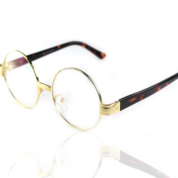 841 round glasses vintage glasses gold circle metal frame amber mirror platechina mainland