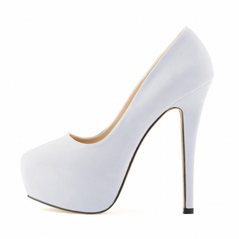 shoes for women ladies girls concealed platform stiletto high heels wedding party White miss 6700 md 26 16