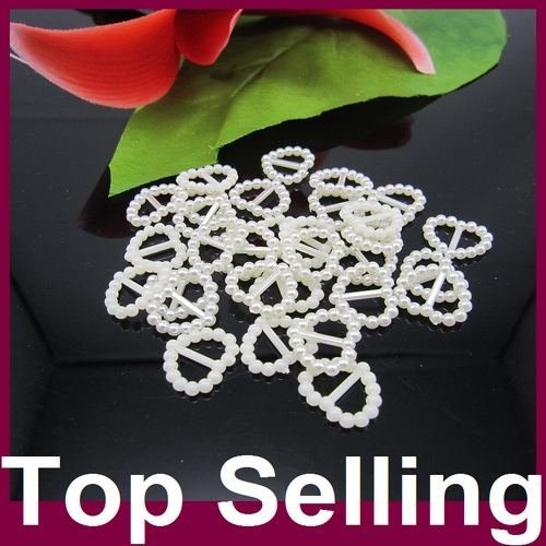 Buckle Pearls 1000pcs/lot 16x15mm Ivory Heart Shape Buckle Pearls Flatback Pearls Perfect For Nail Cellphone Laptop Art