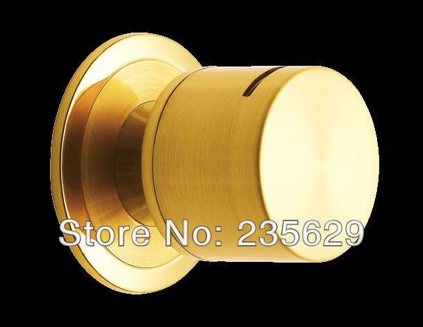 Free Shipping, Satin Gold cylinderical lock,Round Lock, Cylindrical Knobsets, ball lock, Apartment DoorCylindrical Knob