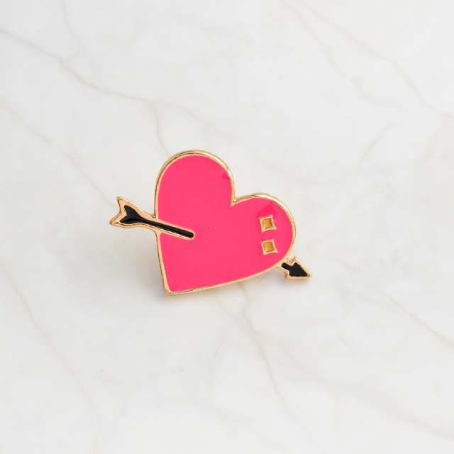 Trendy Cartoon Love Heart Shaped Women's Brooch