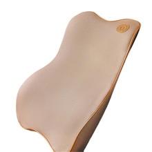 Premium Memory Foam Car Pillow Set Back Lumbar Pillow Cushion for Driving Travel Office & Home