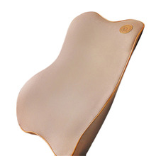 Premium Memory Foam Car Pillow Set Back Lumbar Pillow Cushion for Driving Travel Office & Home