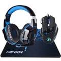 En Stock 5500 DPI X7 Pro Gaming Mouse + Hifi Pro Gaming auriculares juego auriculares + regalo gran juego Mousepad para Pro Gamer