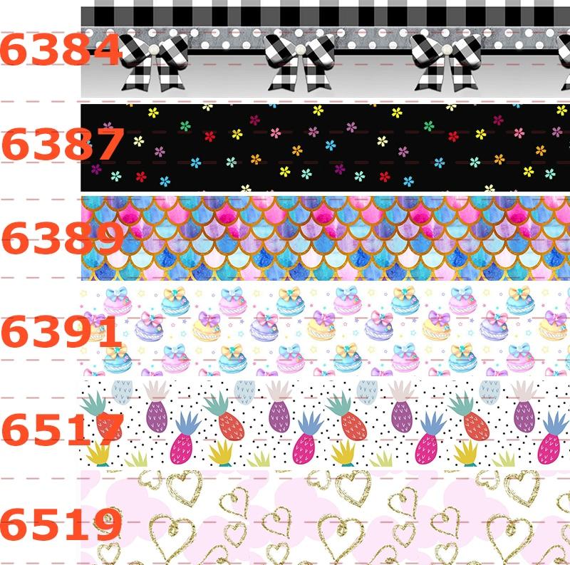 10yards different sizes bows  u0026 star pattern ribbon printed