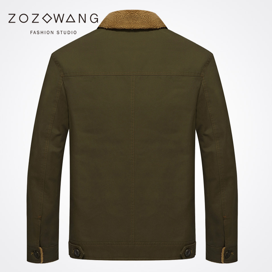Zozowang solid short Turn down Collar Single breasted brushed keep warm autumn winter jacket men fashion casual winter coat men in Parkas from Men 39 s Clothing