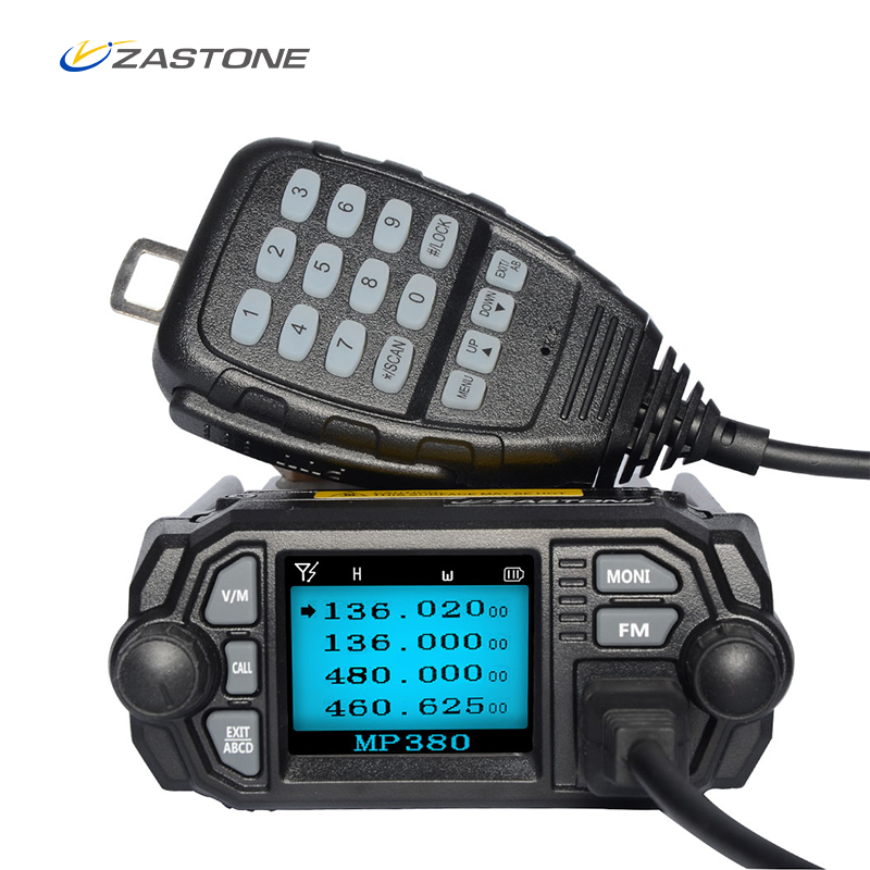 Zastone Radio Mobile talkie-walkie MP380 VHF 136-174 MHz UHF 400-480 MHz 25 W/20 W double bande Mini autoradio Radio bidirectionnelle