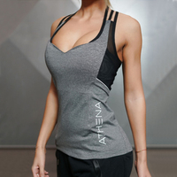 2017 Summer Sexy Harness Women Tank Tops Female Dry Quick Loose Fitness Vest Singlet For Exercise