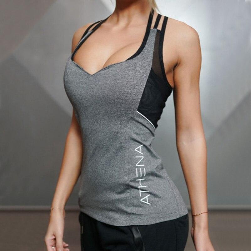 2018 Estate Sexy Harness Donne Canotte Donna Asciutto Rapido Allentato Fitness Vest Canotta Per Esercizio Allenamento vestiti delle Donne T-Shirt