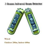 GZGMET 200 Meter Perimeter active infrared laser beam motion detectors sensor alarm sensor beam infrared Low Price