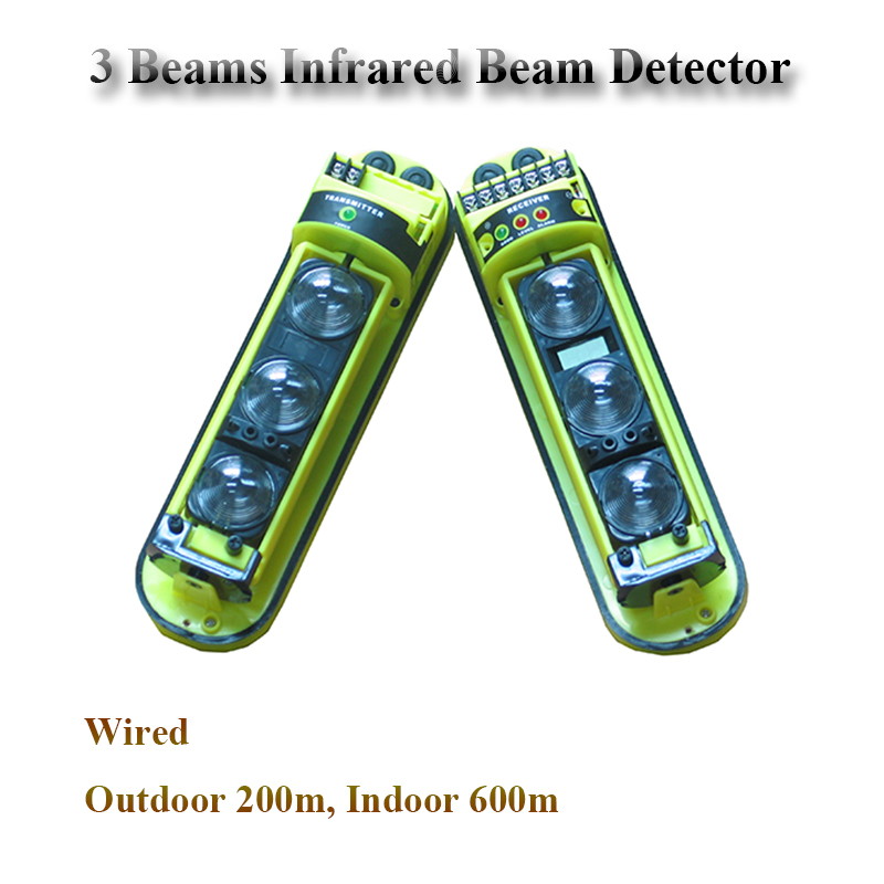 GZGMET 200 Meter Perimeter active infrared laser beam motion detectors sensor alarm sensor beam infrared Low Price microwave active infrared safety sensor safety beam function power input ac dc 12 30v motion presence sensor