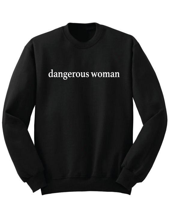 b828abde5 New Women Sweatshirt dangerous women letters print Jumper Casual Hoodies  For Lady Hipster Street Black Gray Drop Ship ZT 32-in Hoodies & Sweatshirts  from ...