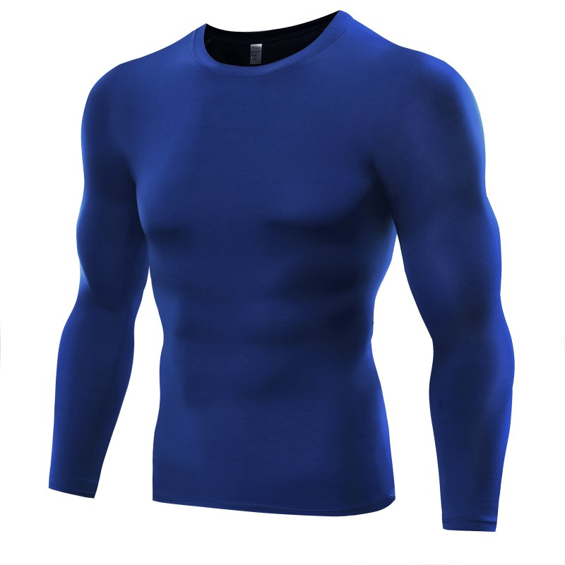 Men Compression Base   T     Shirt   Layer Tight Top Under Skin Long Sleeve   T  -  shirt   Tops Tees