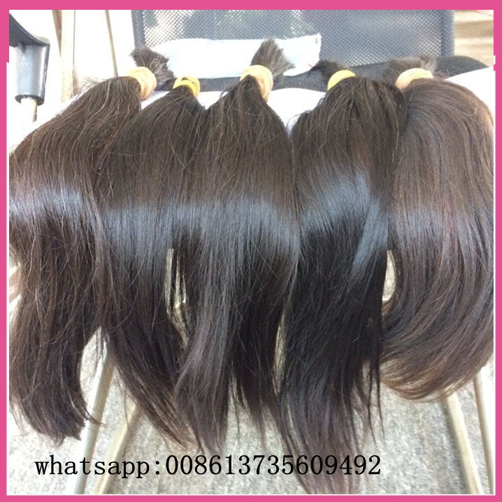 Raw Natural Virgin Unprocessed Brown Hair Bulk No Attachment One
