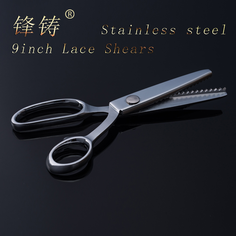 FENGZHU5mm Scissor Zigzag Pinking Shears Fabric Stainless Steel Scissors DIY Necessary Sewing Tool Lace Dressmaker s