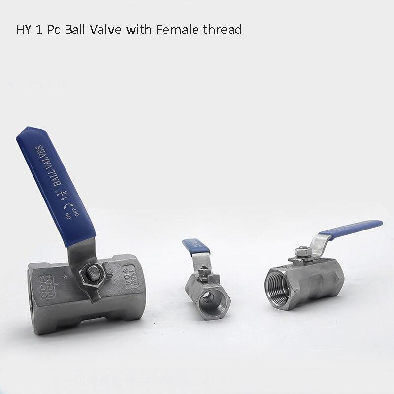 "1/4"" 3/8"" 1/2""  SS304 Stainless Steel  Ball Valve , 1PC Thread  Ball Valves"