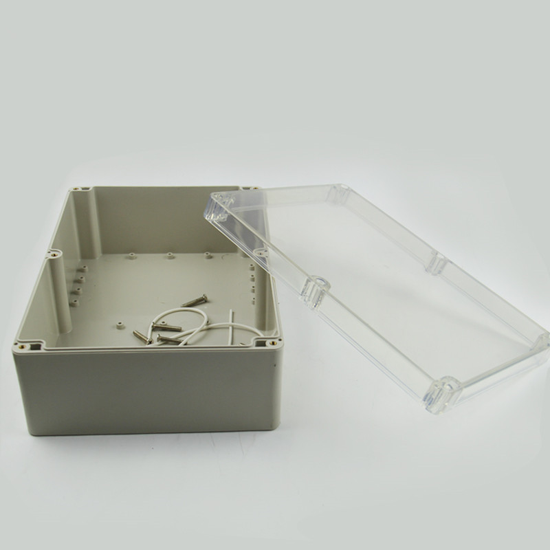 1PCS Waterproof Clear Outdoor Electronic Box Enclosure Plastic Case 263x185x95mm 4pcs a lot diy plastic enclosure for electronic handheld led junction box abs housing control box waterproof case 238 134 50mm