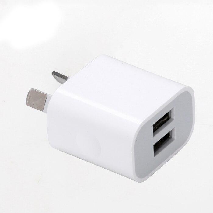 Зарядное устройство для мобильных телефонов с двумя USB-портами, 5 В, 2 А