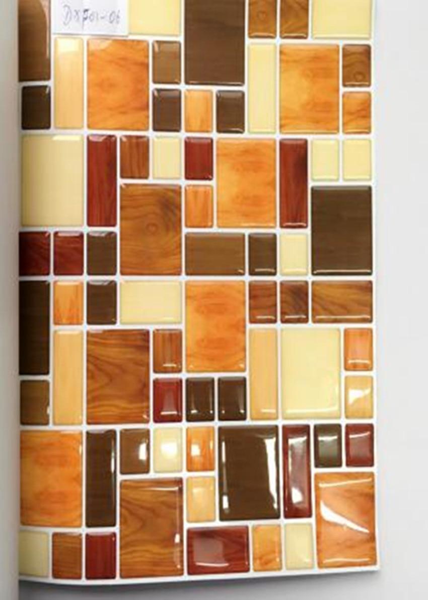 Stick Backsplash Adhesive Vinyl Wall Tiles Irregular Shape